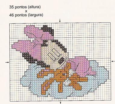 Punto croce disney babies 17 minny for Schemi gratis punto croce disney