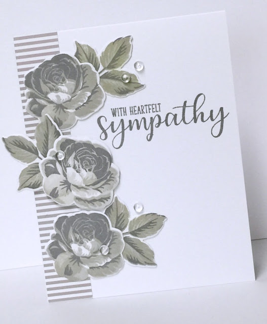 Sunny Studio Stamps: Everything's Rosy Everyday Greetings Sympathy Card by Donna Mikasa