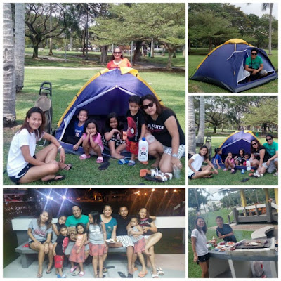 Camping and BBQ Party in Pasir Ris Park Singapore