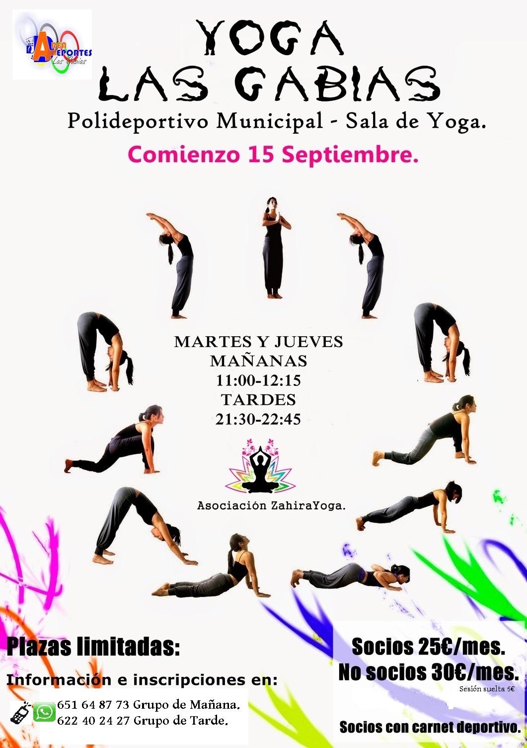 En la Sala de Yoga del Polideportivo de Las Gabias. c  Juan Antonio  Samaranch s n. 26f9bbd66a70