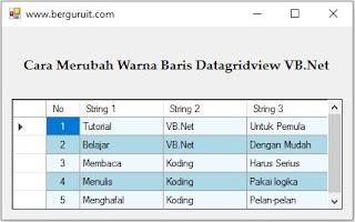 Cara ubah warna baris datagridview vb.net