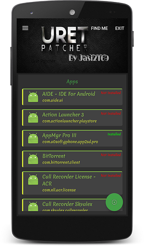 Tampilan Aplikasi Uret Patcher