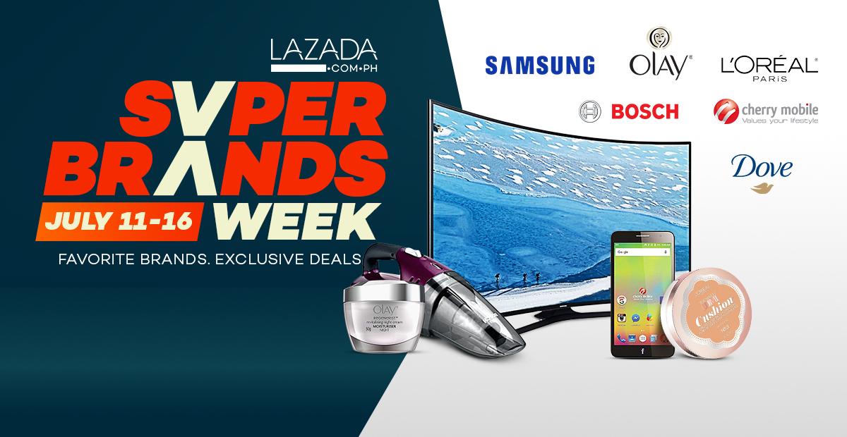 LAZADA's Super Brands for Super Deals!