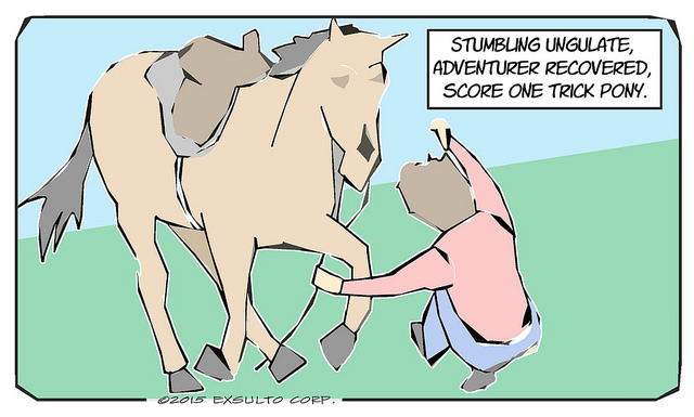 Stumbling Ungulate - Horse Comic