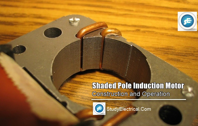 Shaded pole induction motor Operation working construction