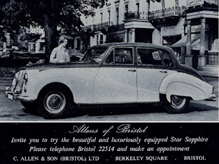 Allens of Bristol advert for Armstrong Siddeley cars