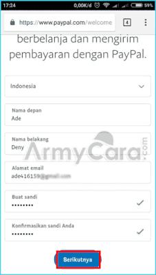 Cara Membuat Akun Paypal di Android