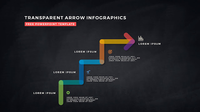 Transparent Arrow Design Elements for Free PowerPoint Template Slide 11