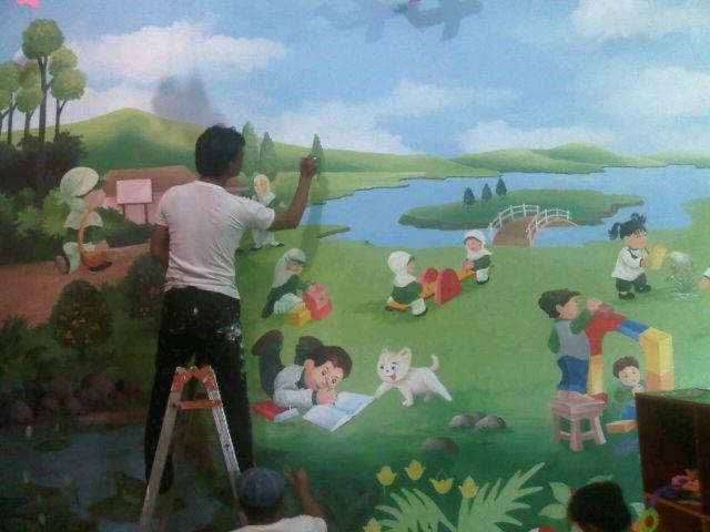 contoh lukisan mural prasekolah