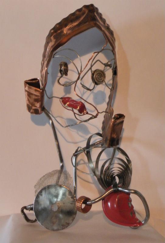 Marianne - sculpture métal recyclage par Ama