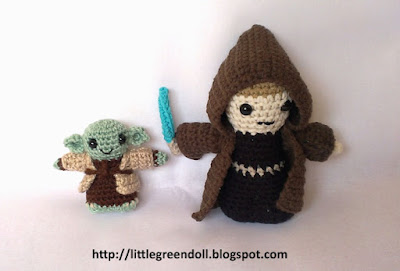 Star Wars Yoda Anakin Skywalker amigurumies