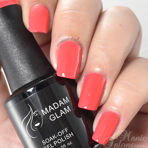 Madam Glam Gel Polish Color Me Coraly Swatch