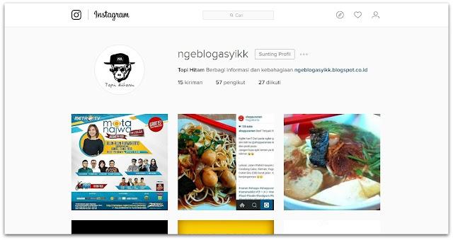 profile new design instagram dekstop web