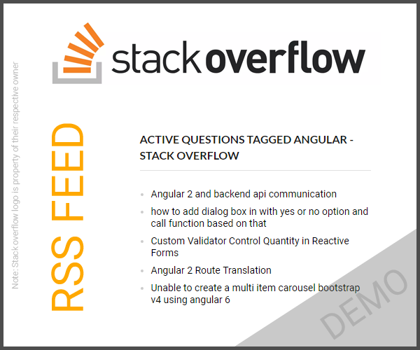 How To Display Stack Overflow Feed On Your Website or Blog - FeStack