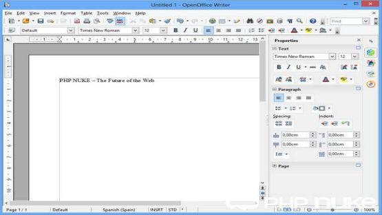 OpenOffice screenshot 3