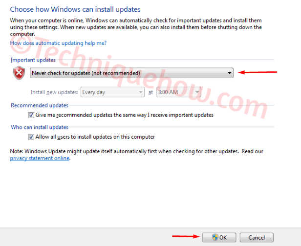 Turn off Automatic Updates on Windows 7_failed updates