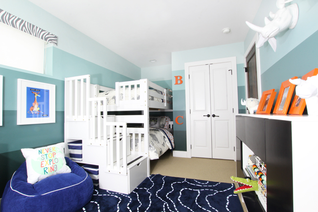 One Room Challenge Shared Boys Bedroom Reveal Blue I Style