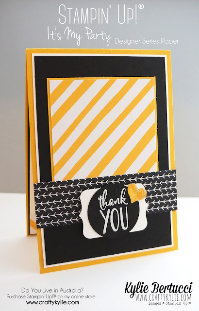 It's My Party Designer Series Paper Stack, Stampin' Up!, by Kylie Bertucci