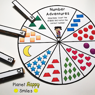 Counting Wheel, Planet Happy Smiles