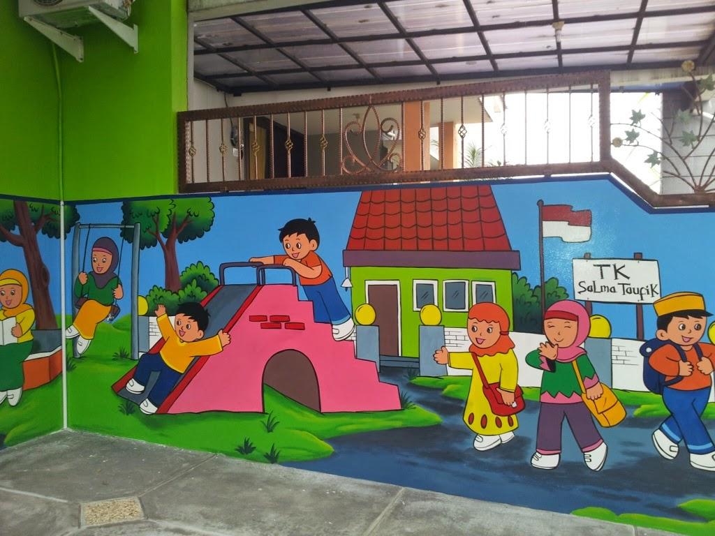Contoh Gambar Lukisan Dinding Tk Sabalukisan