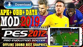 تحميل لعبة PES 2012 MOD PES 2019 للاندرويد / تحميل بيس 12