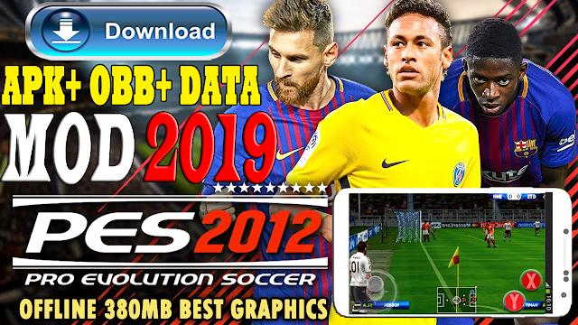 تحميل لعبة PES 2012 MOD PES 2018 للاندرويد / تحميل بيس 12 مود بيس 2019 / 400mb  APK + OBB + DATA