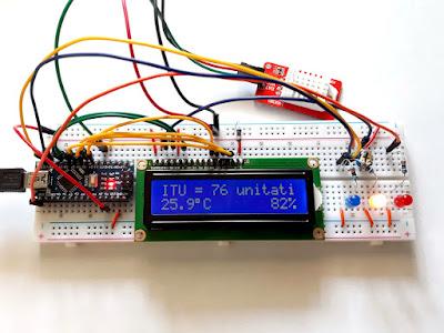 Calculare indice de confort termic cu senzor DHT