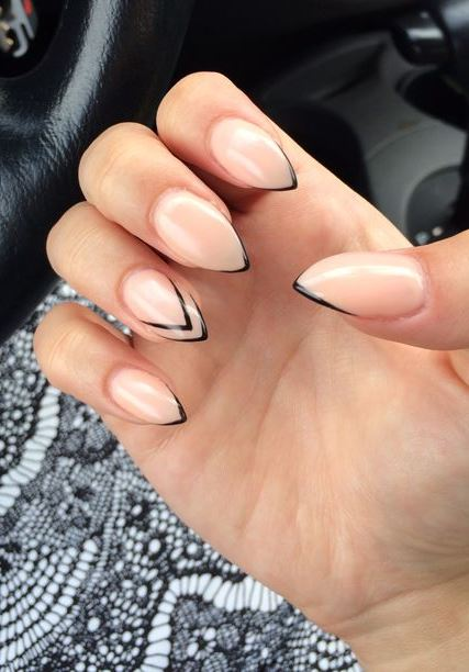 French Tip Nails Are Always A Hit
