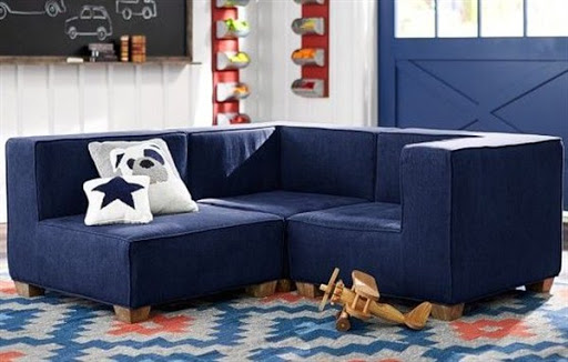 Denim sofas and sectionals for small spaces