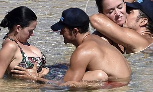Actor Orlando Bloom and singer Katty Perry photos