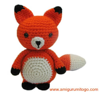 orange crochet fox
