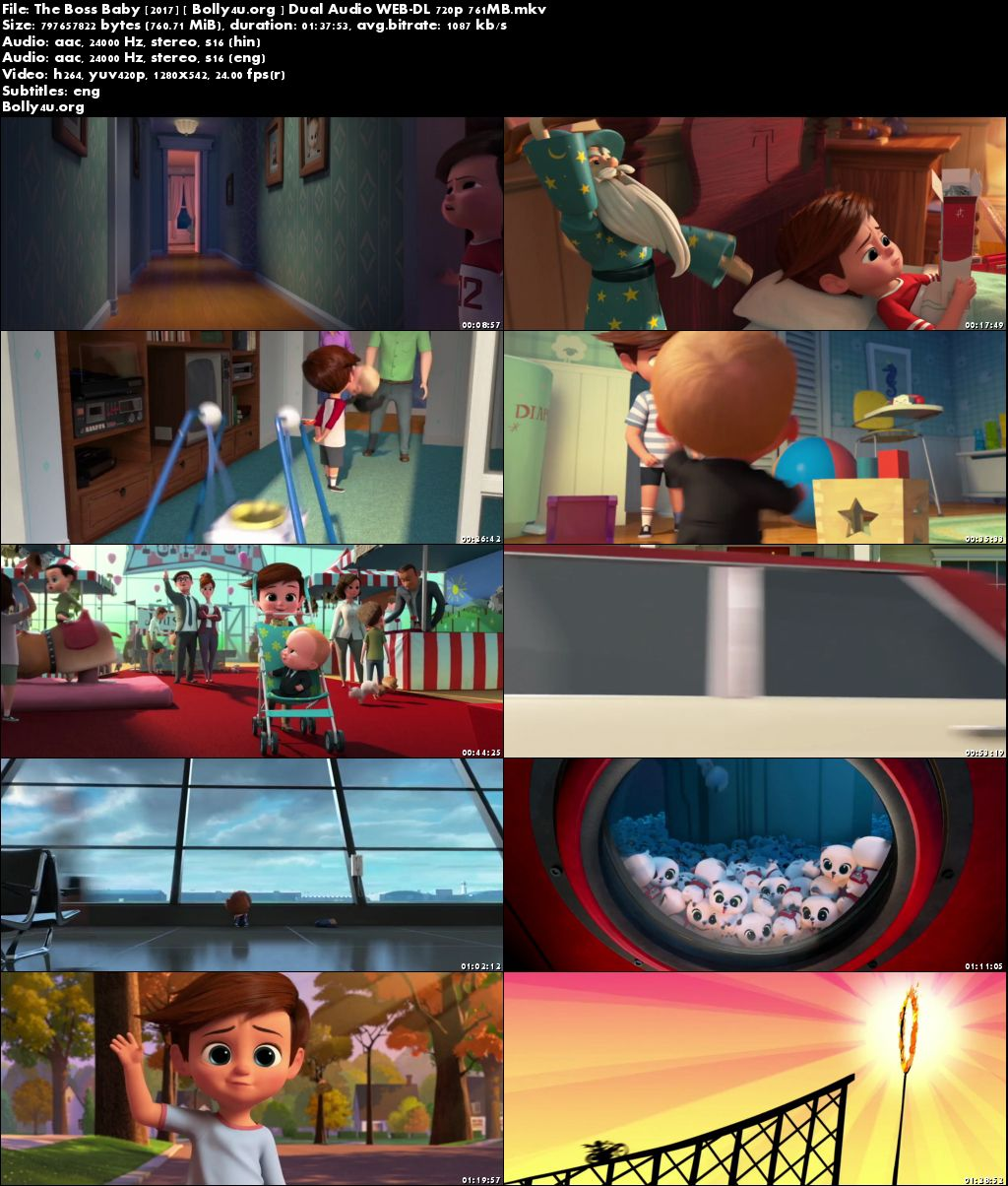 The Boss Baby 2017 WEB-DL 300MB Hindi Dubbed Dual Audio 480p Download