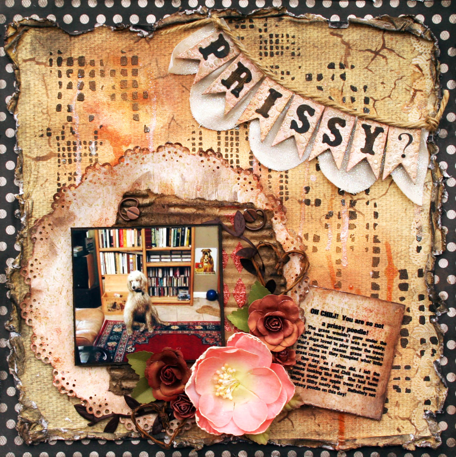 Scrapbook paper dogs - Prissy Jpg