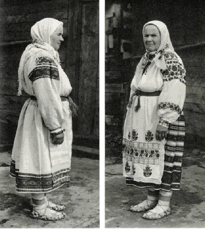 Woman from Western Polessye region of Belarus in traditional costume