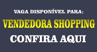 Vaga Vendedora Shopping em Maringá