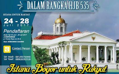 Hasil gambar untuk Istana Bogor untuk Rakyat (Istura)