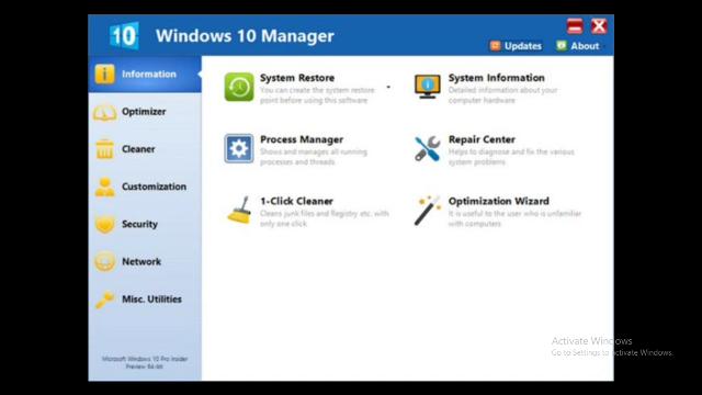 Yamicsoft Windows 10 Manager 3.0.0