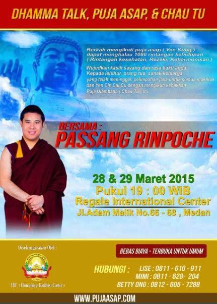 Dhamma Talk, Puja Asap (Yen Kung), dan Chau Thu bersama ...