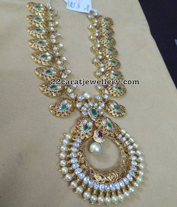 Chandbali Style Mango Necklace