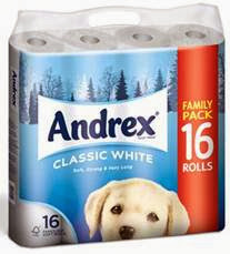 Win Andrex extra strong toilet tissue