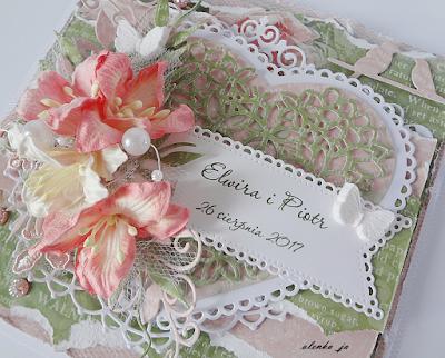 Zielono-różowy ślub