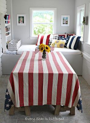 A Minimalist Montessori Home Tour: The Dining Room-Patriotic Decor