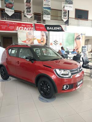 Suzuki Ignis Warna Merah Manual Di Jual di dealer resmi suzuki siliwangi cianjur PT. Duta Cendana Mandiri