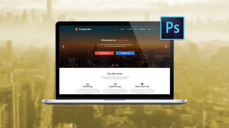 The Ultimate Web Designing Course in Photoshop with 20+ PSD Files, 3 Mega Web Design Projects - Udemy Coupon