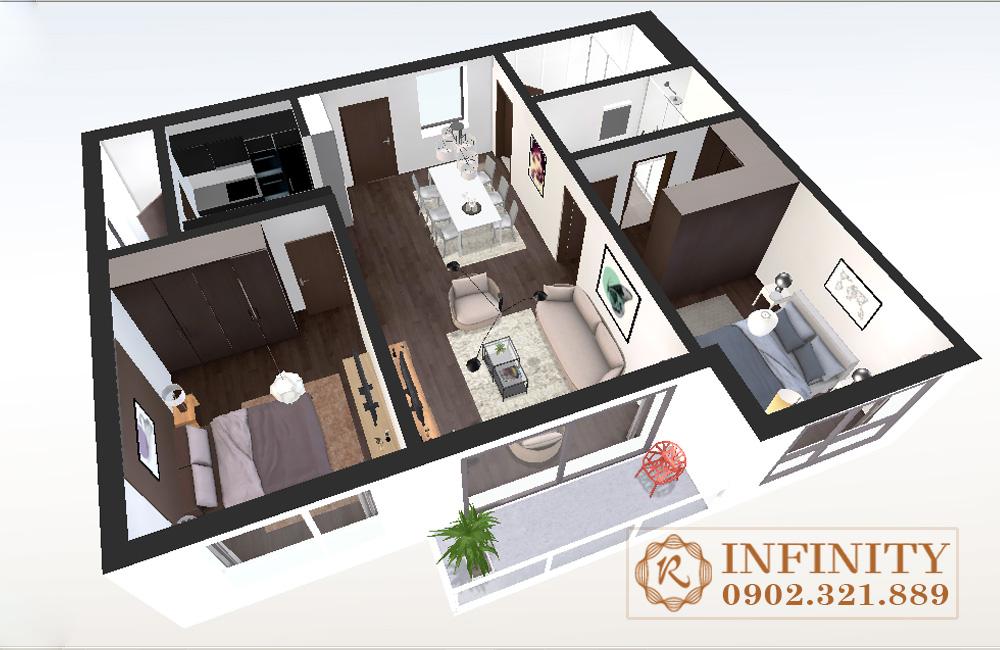 Căn hộ Everrich Infinity cho thuê - layout căn hộ