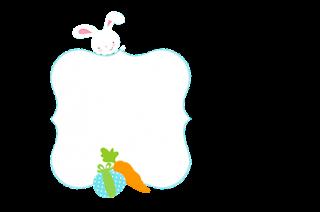 Conejito de Pascua en Cuadros Celestes: Invitaciones para Imprimir Gratis..
