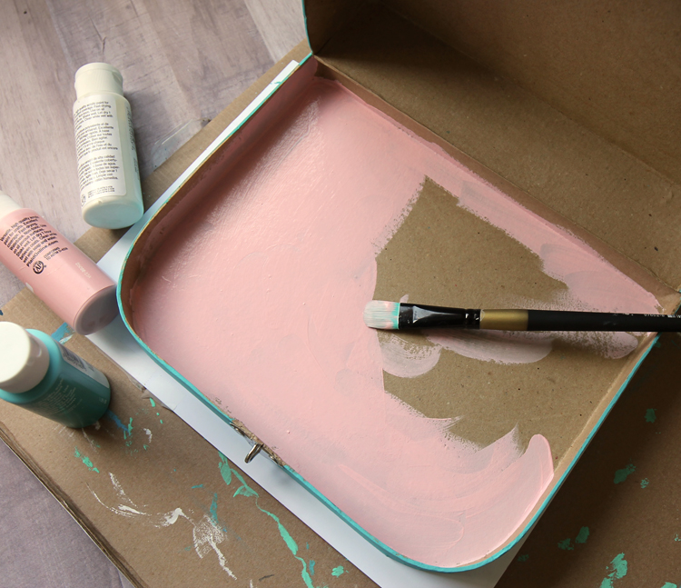 paintable paper mache suitcase