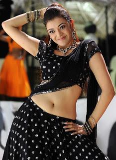 Kajal Agarwal Spicy Saree Photo