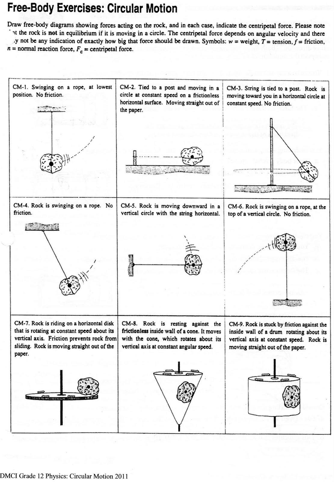 Force Worksheet Grade 6
