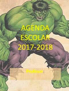 agenda escolar gratis de hulk